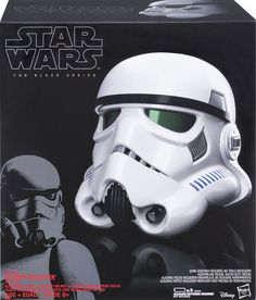 Hasbro - Star Wars The Black Series Imperial Stormtrooper Electronic Voice Changer Helmet - Black, B7097