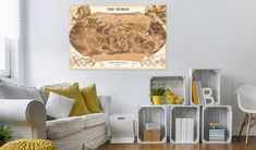 Decorative pinboard - THE WORLD #art #mapart #decor #home #design #travel #pin #wall #cork #memories #original #world Cork Map, Cork Bulletin Boards, Map Art, The Ordinary, Screen Printing, Create Your Own, Wall Decor, Traditional, The Originals