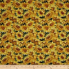 Golden Harvest Metallic Sunflowers Multi from From Fabri-Quilt, this cotton print is perfect for quilting, apparel and home decor accents. Colors include brown, green and yellow with accents of metallic gold. Golden Harvest, Fall Harvest, Cool Fabric, Fabric Art, Poppies, Sunflowers, Decoupage, Aesthetic Wallpapers, Accent Decor