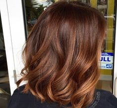 Hair Highlights - Cinnamon pumpkin spice latte ☕️ free painted and toned with Matrix color sync Hair Color And Cut, Hair Color Shades, Hair Colour, Indian Hair Color, Cinnamon Hair Colors, Hair Color Auburn, Short Auburn Hair, Hair Highlights, Brown Highlights