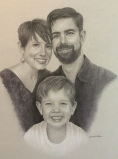 Commission for the Kelly family. Charcoal on gray paper 16 xx 20
