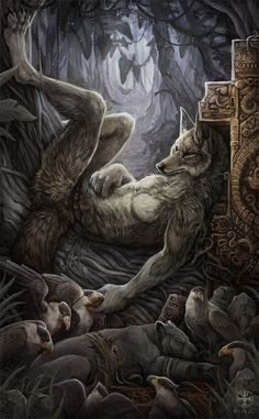 Fur Affinity is a furry art community. Furry Wolf, Furry Art, Fantasy Wolf, Dark Fantasy, Fantasy Creatures, Mythical Creatures, Werewolf Girl, Wolf Warriors, Vampires And Werewolves