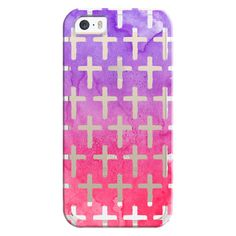 iPhone 6 Plus/6/5/5s/5c Bezel Case - Cross Pattern Abstract Pink... ($35) ❤ liked on Polyvore featuring accessories, tech accessories, phones, iphone case, purple iphone case, iphone cover case, print iphone case and apple iphone cases