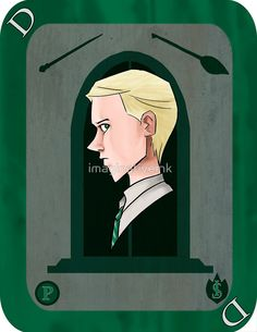 Draco Malfoy Playing Card by imaginativeink