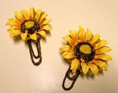 Sunflower bookmark clip tutorial