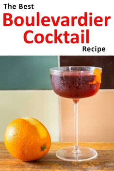Follow our bourbon Boulevardier cocktail recipe and make the classic cocktail at home in just five minutes. | Bourbon Boulevardier| Bourbon Boulevardier Recipe | Boulevardier Cocktail | Classic Cocktail | Buffalo Trace Bourbon Cocktails, Classic Cocktails, Cocktail Recipes, Drink Recipes, Boulevardier Cocktail Recipe, Luxardo Maraschino Cherries, Buffalo Trace, Orange Twist, Drinking Around The World