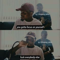 You gotta focus on yourself. Fuck everybody else Real Talk Quotes, Fact Quotes, Mood Quotes, Life Quotes, Talking Quotes, Bruce Lee, Bob Marley, Eminem, Twitter Quotes