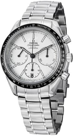 Men watches : Omega Speedmaster Racing Automatic Chronograph Silver Dial Stainless Steel Mens Watch 32630405002001