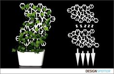 Ivy is a modular structure that functions as a support for growing climbing plants, as the plant is growing more modules can be placed. Modular Structure, Grow Organic, Creative Design, Cnc, Climbing, Spain, Design Ideas, Trends, Studio