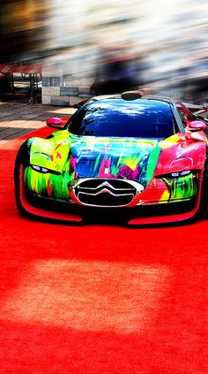 Wild paint job on this concept car