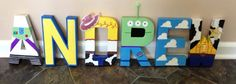 Toy Story letter art I did for Andrew's room.