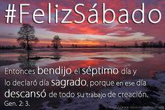 Feliz Sábado, disfrutemos de la compañía de nuestro Dios. Bendiciones! #FelizSabado