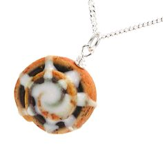 Cinnamon roll necklace by inediblejewelry on Etsy, $24.00