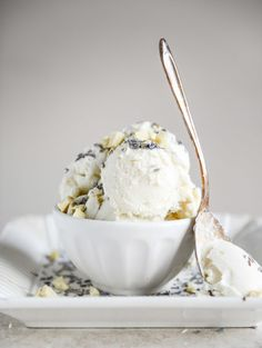 White Chocolate Lavender Ice Cream | How Sweet It Is