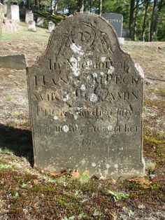 In Memory of Hannah Peck wife of Benjamin Peck who died July 10 1810 in the 72d year of her age.  Though badly deteriorated, I know through research she was the wife of Benjamin Peck Sr.