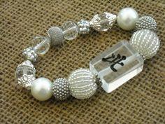 Clear Mahjong Tile Bracelet - Jesse James Beads Jewelry - Mah jong Bracelet by MahjongJewelry on Etsy