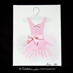 @Melissa LaBerta Handprint Tutu Art...You should have sis make one and frame it in her room.