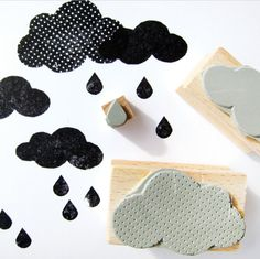 rubber stamps - CLOUDS