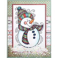 This adorable PenPattern Snowman is one of the newest cuties in this fun line of Stampendous Stamps. Just add snow and you're set for a fun winter card!