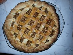 Homemade salted caramel apple pie ♡♥♥♡♥!