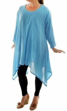 WeBeBop Womens Plus Size Crinkle Cotton Solid Caribbean Lisa Swing Top (0X) We Be Bop,http://www.amazon.com/dp/B00HUER9OO/ref=cm_sw_r_pi_dp_PIh1sb05982HVXT8