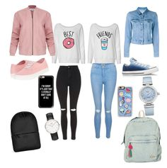 """""""Bts Friends"""" by kimy1216 on Polyvore featuring Topshop, New Look, Acne Studios, Rains, Vans, Converse, Helmut Lang, Billabong, Casetify and Zero Gravity"""
