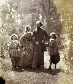 The Tennysons on the grounds of Farringford. Photo taken by Oscar Rejlander 1863