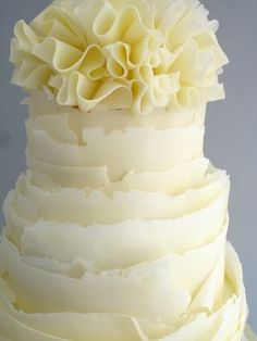 Ruffle Wedding Cake Lemon  walking on sunshine:-)