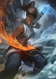 Fantasy Character, Character Art, 3d Modellierung, Avatar Studios, Avatar Series, Korra Avatar, Avatar The Last Airbender Art, Korrasami, Legend Of Korra