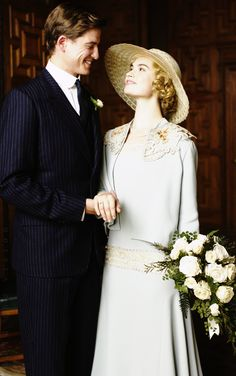 Lily James as Lady Rose MacClare + Matt Barber as Atticus Aldridge. Downton Abbey season 5