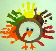 cute twist on the hand turkey