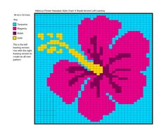 Erssie - Knitting Charts - Hibiscus Flowers Hawaiian Style Charts