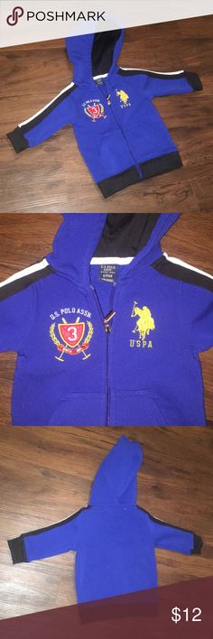 "US POLO ASSN boys 6/9 M Blue hooded jacket Washed, but never worn. Size 6 to 9 months.. ⭐️If you need any specific measurements, please ask and I will gladly get those for you. ⭐️Please ask any questions prior to purchase. ⭐️Offers are always welcome. Not sure how much to offer? Just ""add to bundle"" and I will gladly send you an offer. ⭐️Bundle & Save!!! US POLO ASSN Shirts & Tops Sweatshirts & Hoodies"