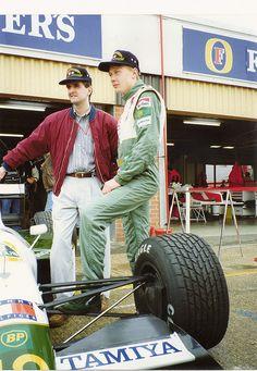 Mika Hakkinen 1991   Martin Donnelly and Mika Hakkinen Silverstone Tyre Test 1991