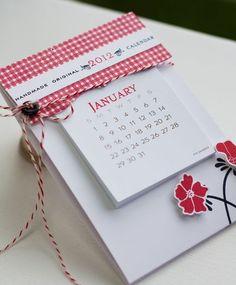 Handmade calendar -- fits in an envelope!