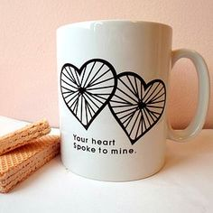 'Hearts Spoke' Valentines Day Mug - gifts for the home