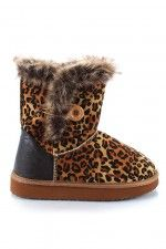 Qupid Oakley-118 Leopard Round Toe Ankle Boot