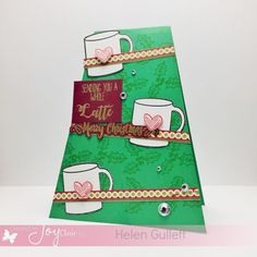 12 Days of Christmas Cards entry by Helen 12 Days Of Christmas, Christmas Cards, Winter Coffee, 9 December, 2016 Winter, Clc, Coffee Lovers, Hello Everyone, Your Favorite