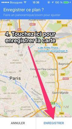 il est possible d'utiliser GOOGLE MAPS SANS CONNEXION  sur iPhone et Android ?  Eh oui, c'est bon à savoir ! Surtout quand on part en vacances à l'étranger. Ça évite d'exploser son forfait ! L'astuce consiste à enregistrer la carte directement sur son smartphone.  Découvrez l'astuce ici : http://www.comment-economiser.fr/utiliser-google-maps-sans-connexion.html