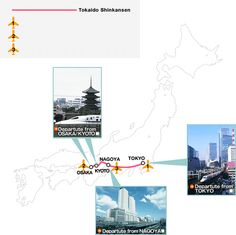 The Shinkansen Tour Package (FLEX JAPAN) Line-up | Central Japan Railway Company