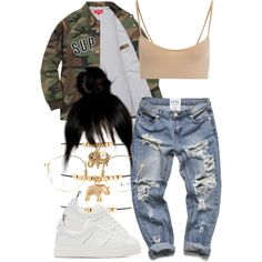 5/7/16 by nasirkami on Polyvore featuring moda, Hanro, Golden Goose, Forever 21 and Ray-Ban