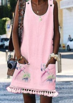 Cotton Sleeveless Casual Dresses – elledro Source by Casual Dresses, Short Dresses, Summer Dresses, Sleeveless Dresses, Vacation Dresses, Maxi Dresses, Unique Fashion, Moda Hijab, Ladies Dress Design