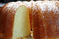 Granny's Pound Cake - a delicious cream cheese pound cake that's great served toasted or with fresh fruit or ice cream. This cake freezes beautifully! Bunt Cakes, Cupcake Cakes, Just Desserts, Dessert Recipes, Baking Desserts, Cake Baking, Cream Cheese Pound Cake, Butter Pound Cake, Whipping Cream Pound Cake