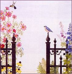 She art room designs   ... in any room of your home with our Secret Garden stencil design