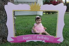 Photo Frame - Photo booth prop - Baby shower - printable frame - for babies - boys - girls -