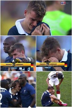 Antoine Griezmann played so hard against Germany and when they lost he let it all out.