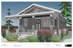 Small house plans are simple to build and more affordable. Whether you're downsizing into a tiny home or a simple living lifestyle, small modern cottage floor plans are a great option. Cottage Plan, Cozy Cottage, Cottage Homes, Cottage Ideas, Free House Plans, Tiny House Plans, Free Plans, Beach Cottage Style, Beach Cottage Decor