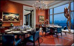 Dining Room Design | See more @ http://diningandlivingroom.com/use-brown-color-dining-room-design/
