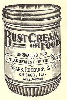 Bust Cream or Food Vintage Ad. So, which is it?