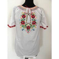 Hímzett blúz matyó mintával 4 Tunic Tops, Long Sleeve, Sleeves, Fashion, Blouse, Women's, Moda, Long Dress Patterns, Fashion Styles